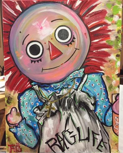 """""""Tupac Shakur"""" - 24x18 Acrylic on Canvas"""